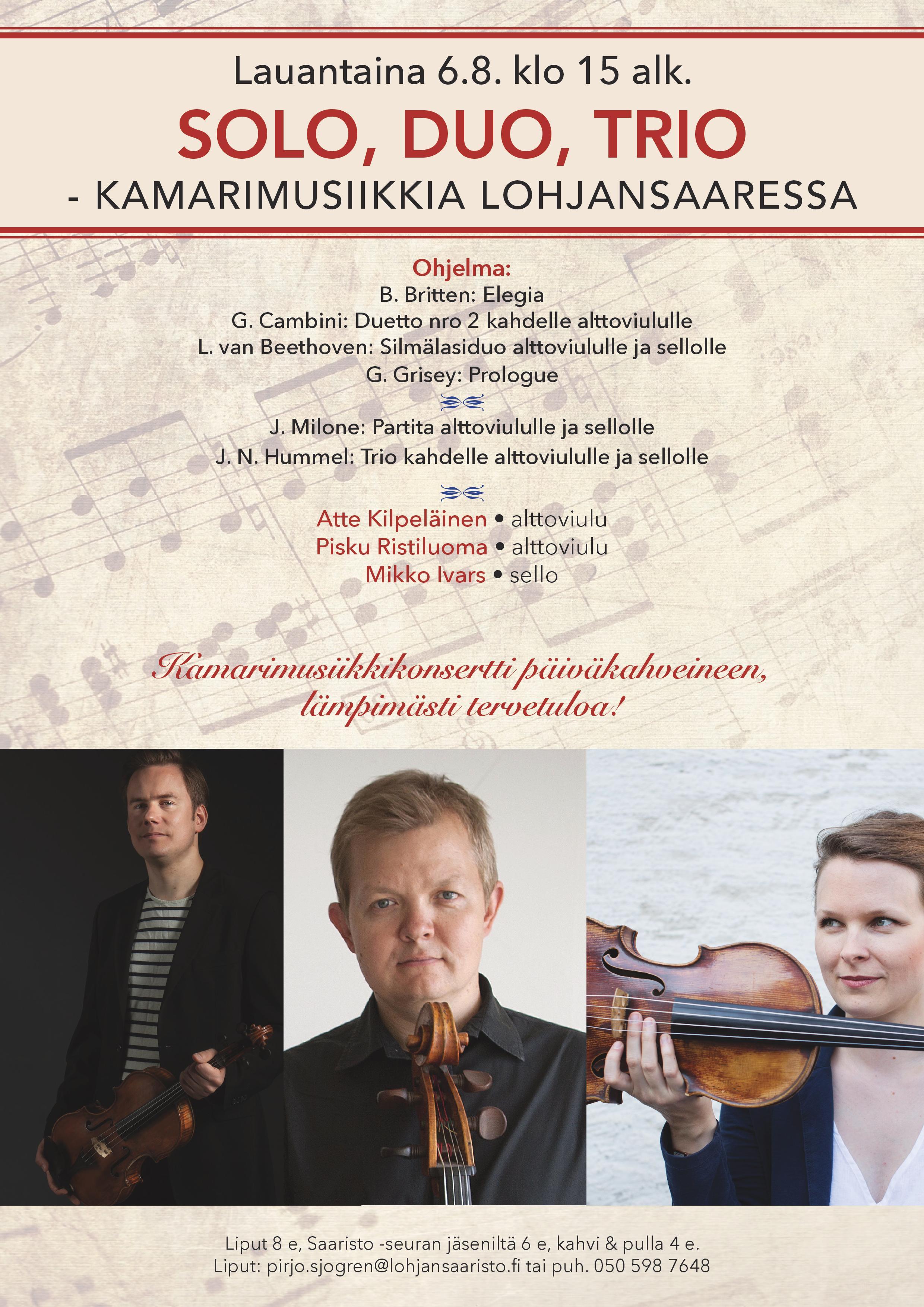 Kamarimusiikkia Lohjansaaressa